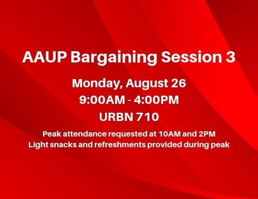 PSU-AAUP Bargaining Session 3