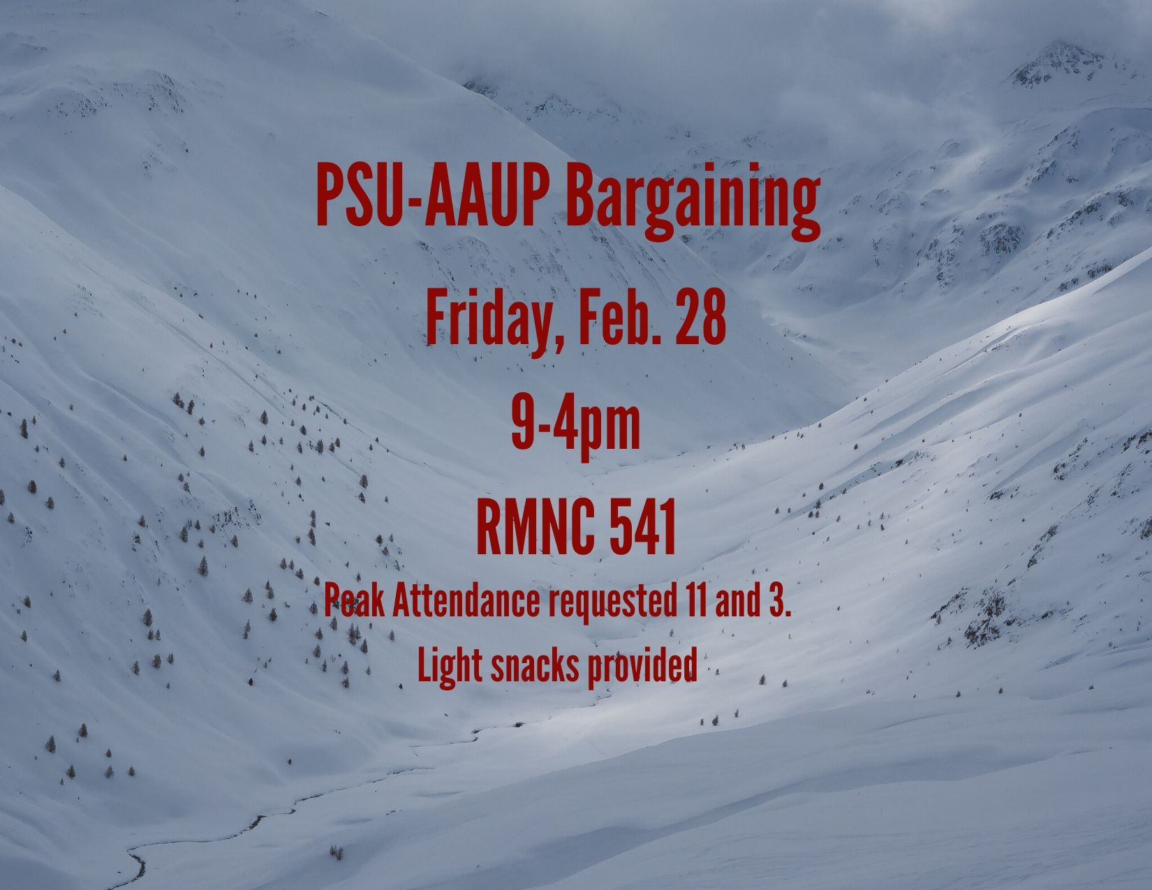 PSU-AAUP Bargaining - February 28