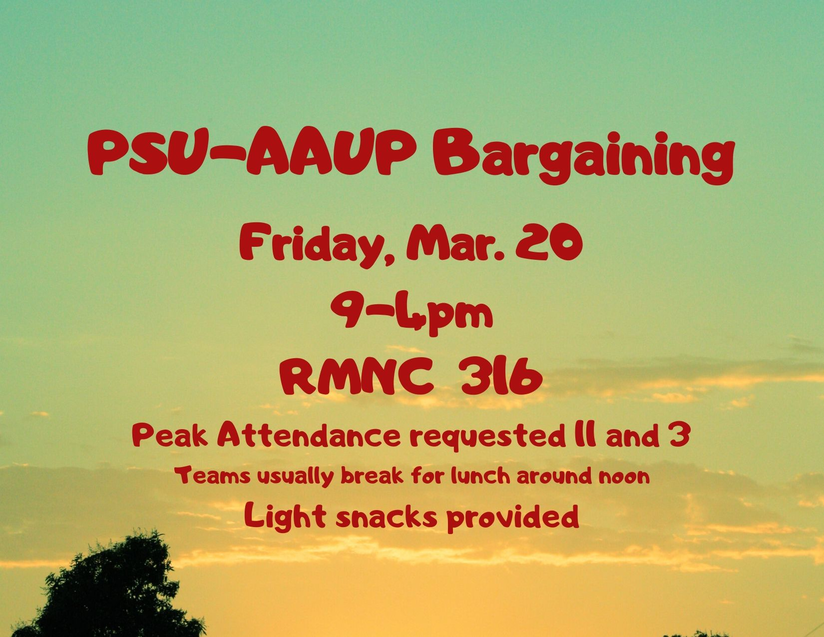 PSU-AAUP Bargaining - March 20