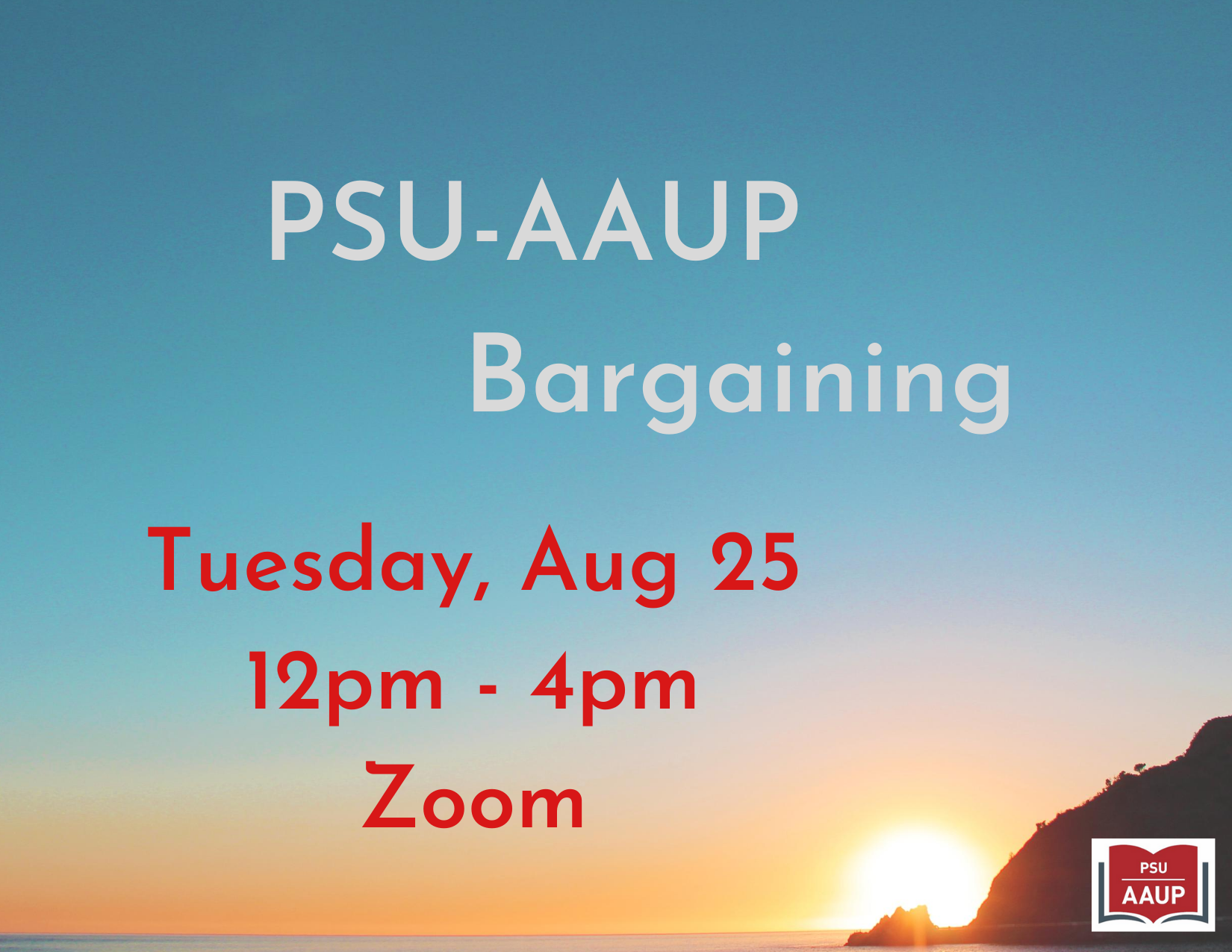 PSU-AAUP Bargaining - August 25