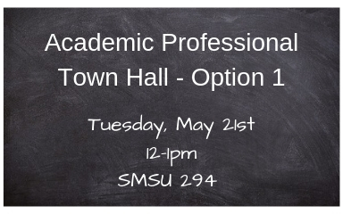 Academic Professional Town Hall Meeting - Option 1