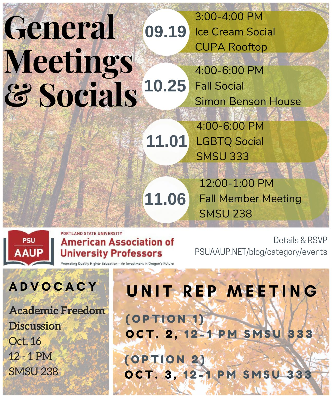 Fall 2018 Events