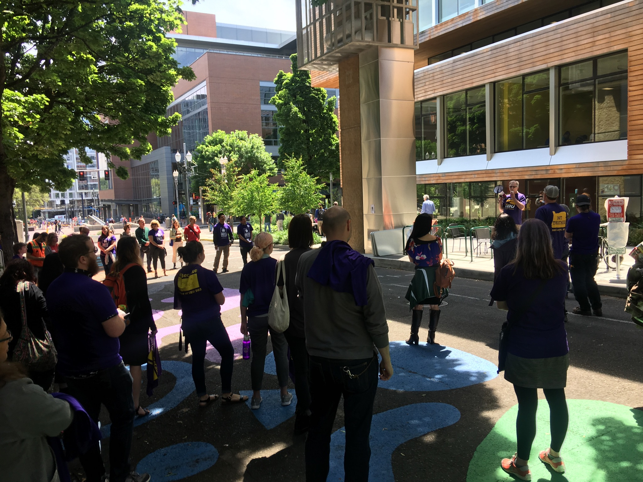 AAUP at SEIU's Rally for a Fair Contract May 30th, 2019