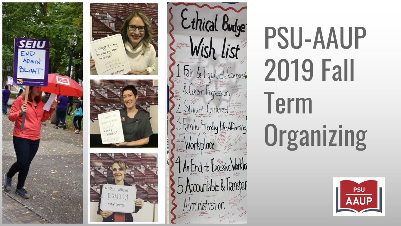 PSU-AAUP's Fall Organizing Campaign Slideshow