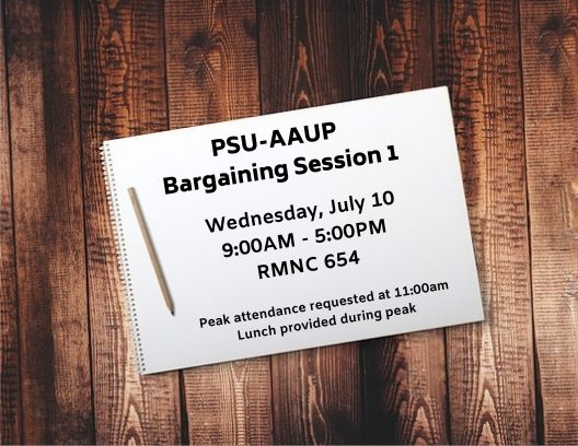 PSU-AAUP Bargaining Session 1