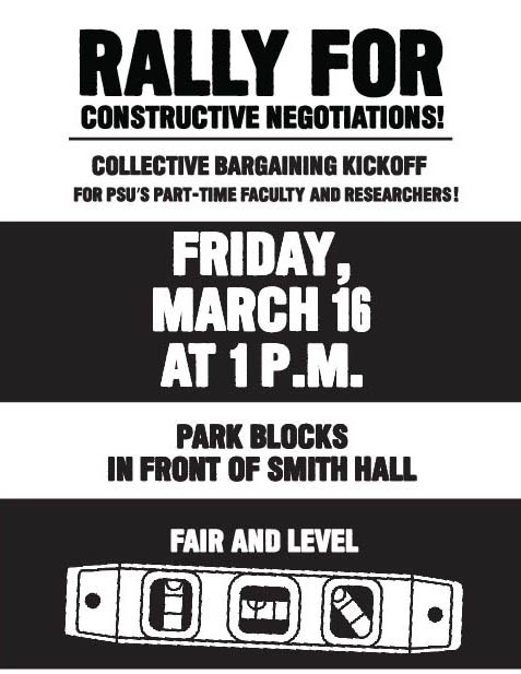 Rally for PSU-FA Friday March 16