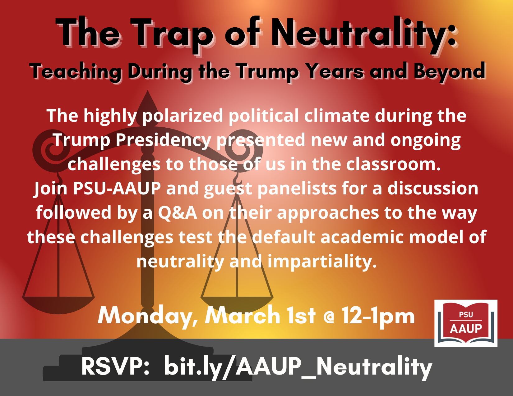 Event: The Trap of Neutrality - March 1st