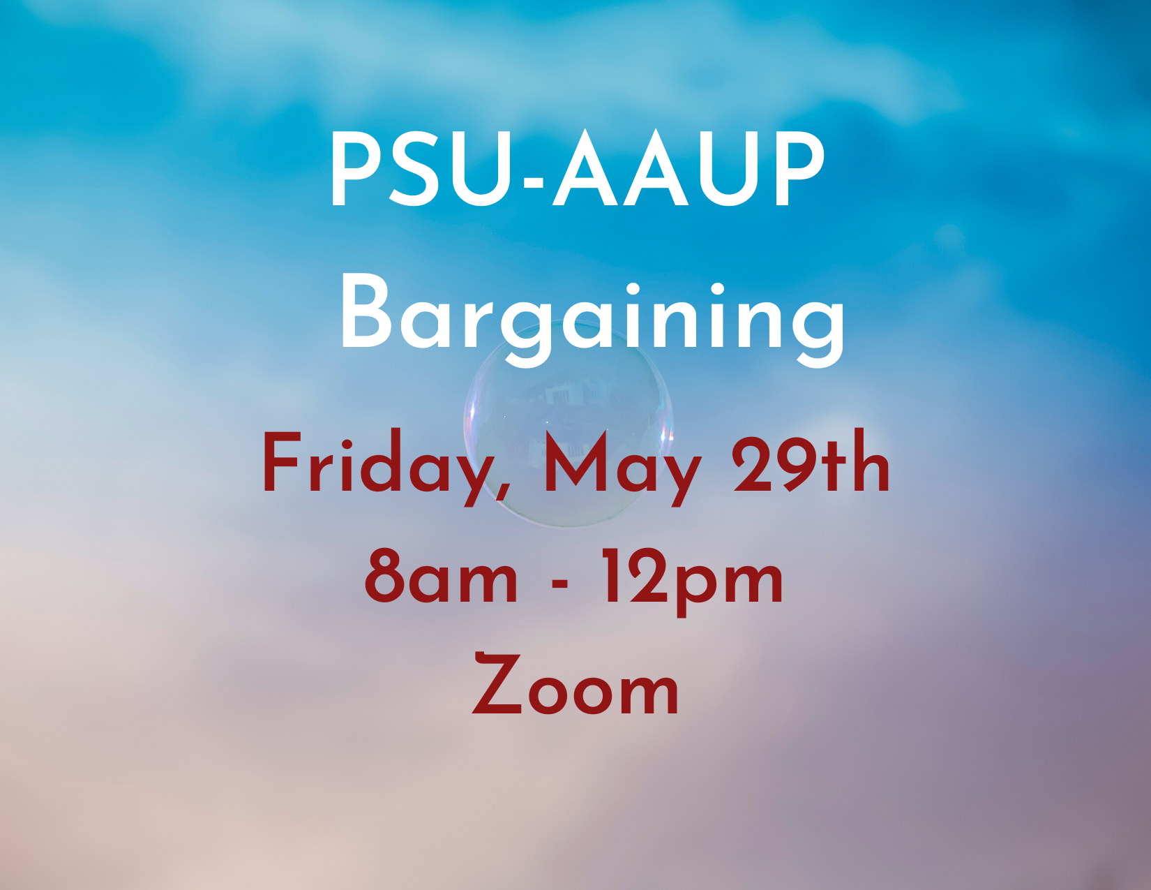 PSU-AAUP Bargaining - May 29