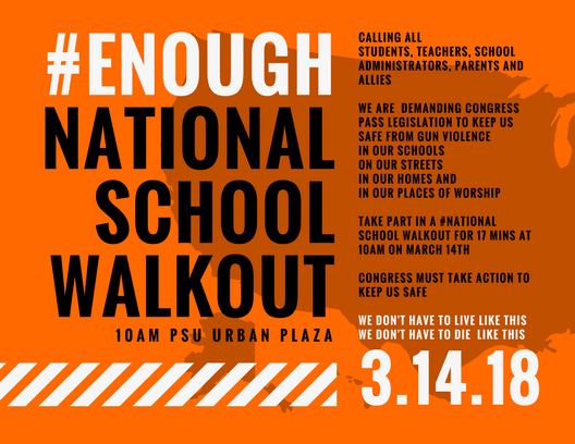 Executive Council Endorses the #ENOUGH National School Walkout