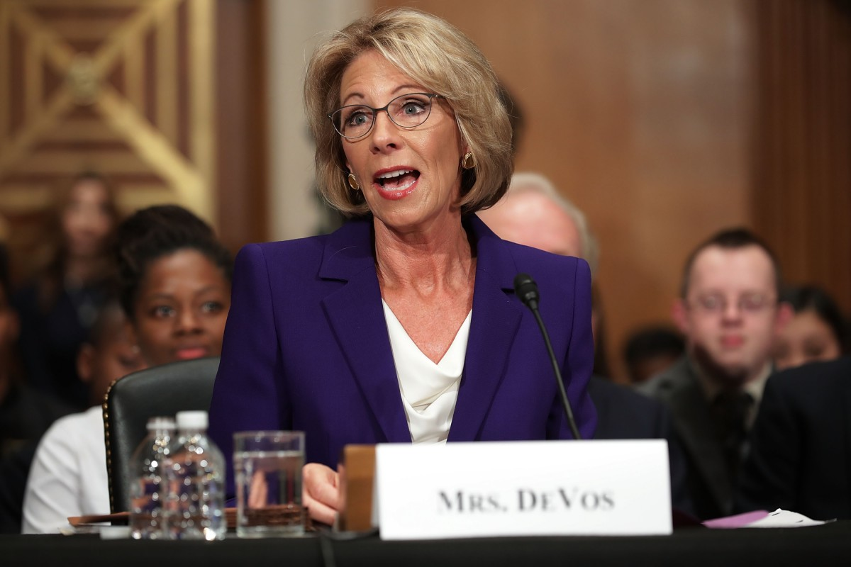 College Groups Blast DeVos Title IX Proposal