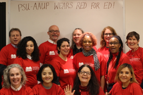PSU-AAUP Wears Red for Ed