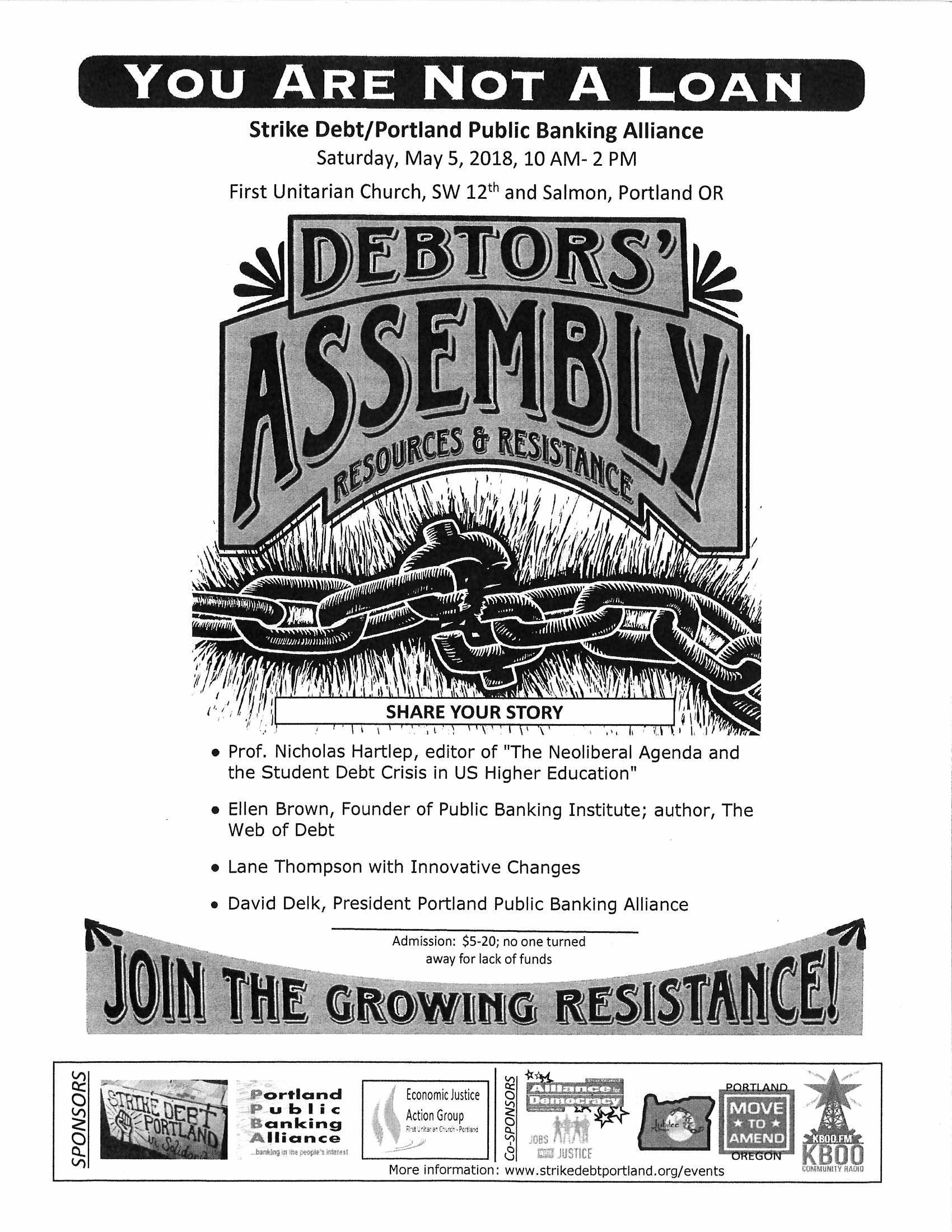 DEBTORS' ASSEMBLY ​YOU ARE NOT A LOAN!​