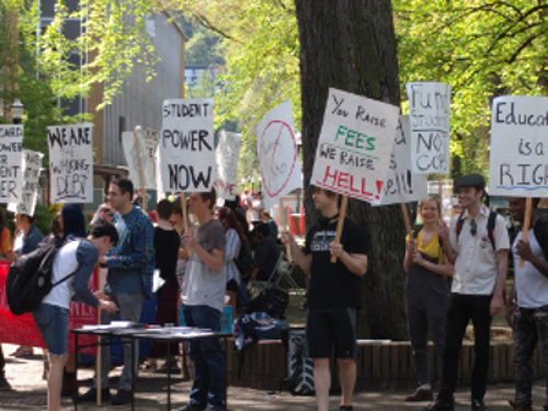 PSU-AAUP Supports Student Rally Against Tuition Hike